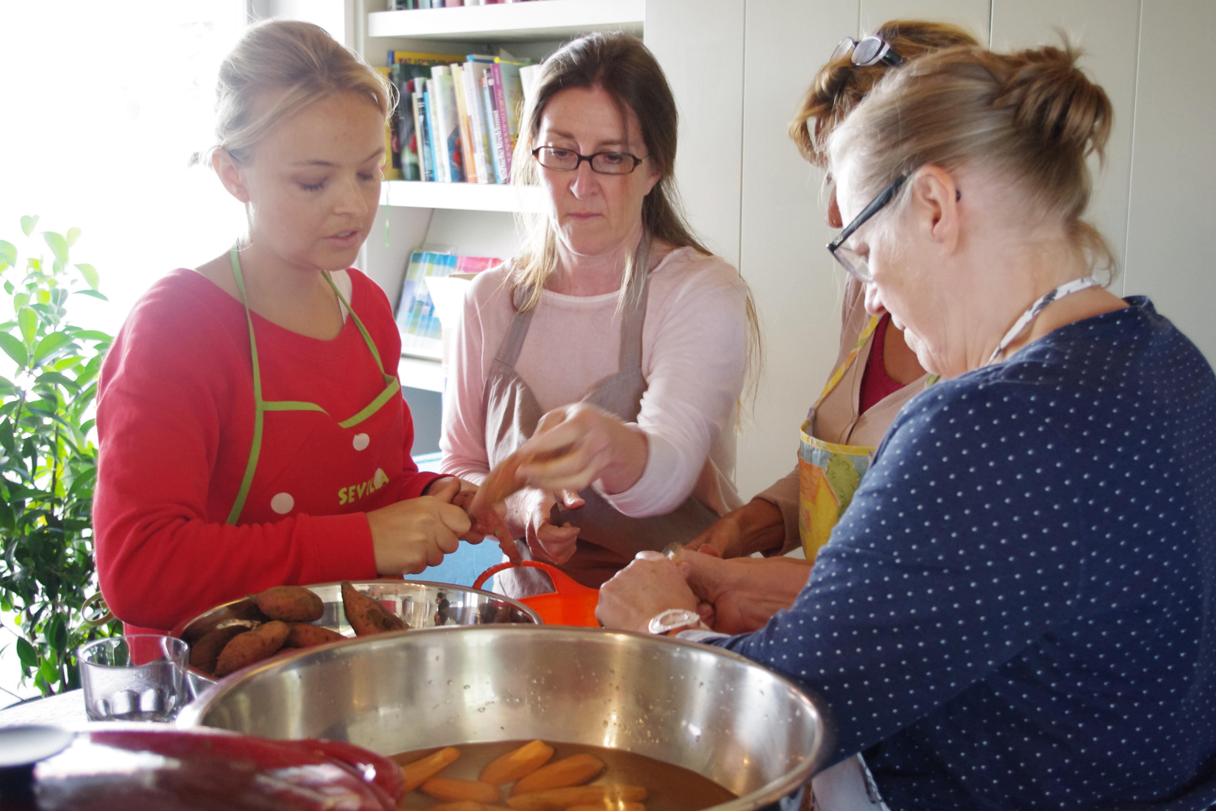 Vegetarisch koken met kruiden op de Kollebloem